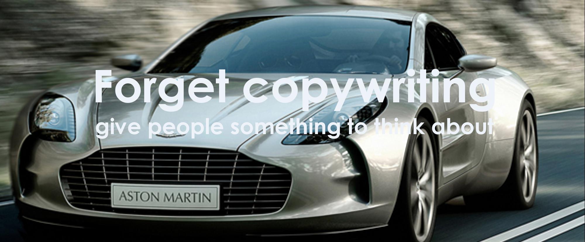 Copywriting as a thrill
