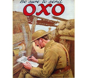 Ad for Oxo in First World War